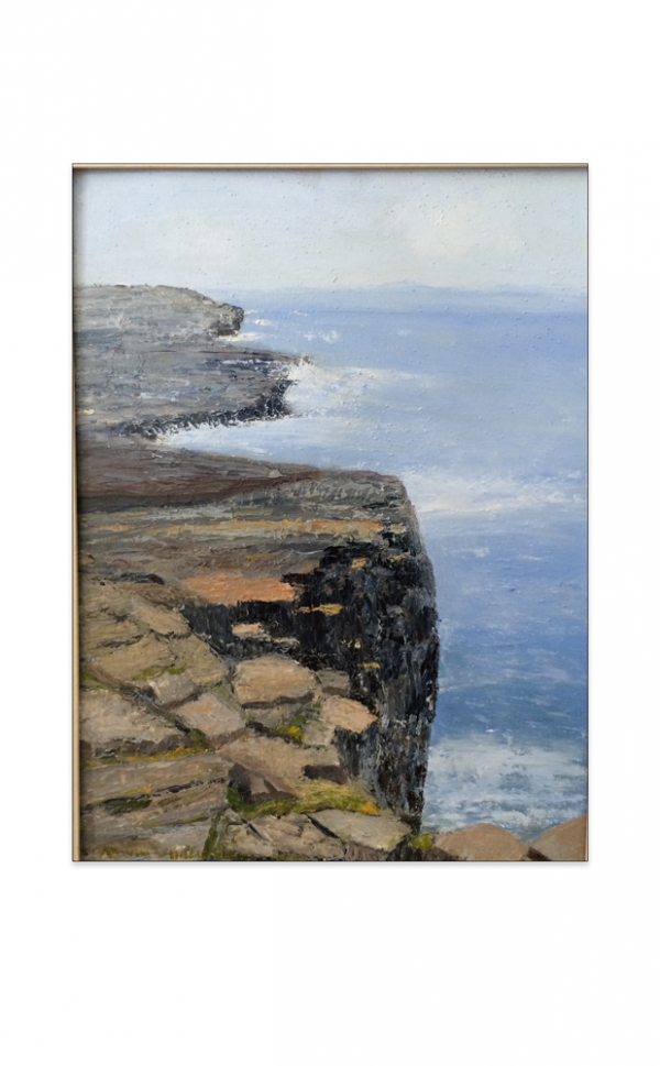 Cliffs and sea painting