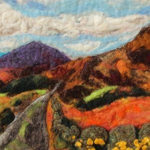 Gorse road rich colours in felt