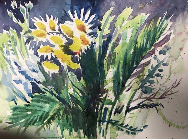 Yellow flower spray