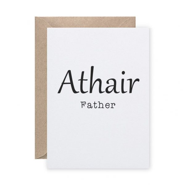 Irish Language Father card Portrait