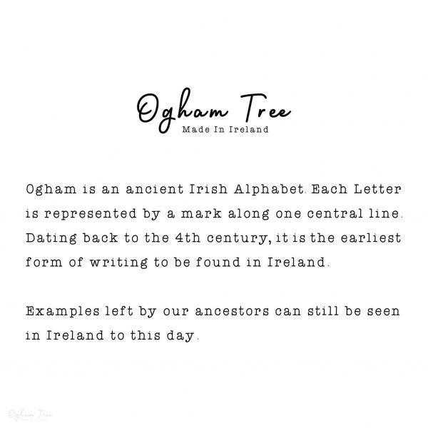 Ogham Prints_Irish Ogham Print_What is Ogham_Irish Ogham Translation_Ancient Ogham_Sustainably Made In Ireland