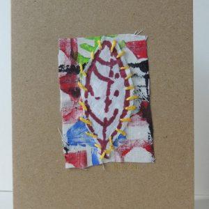 Card with leaf