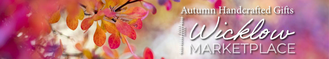 Wicklow Marketplace Autumn banner with autumn leaves and logo